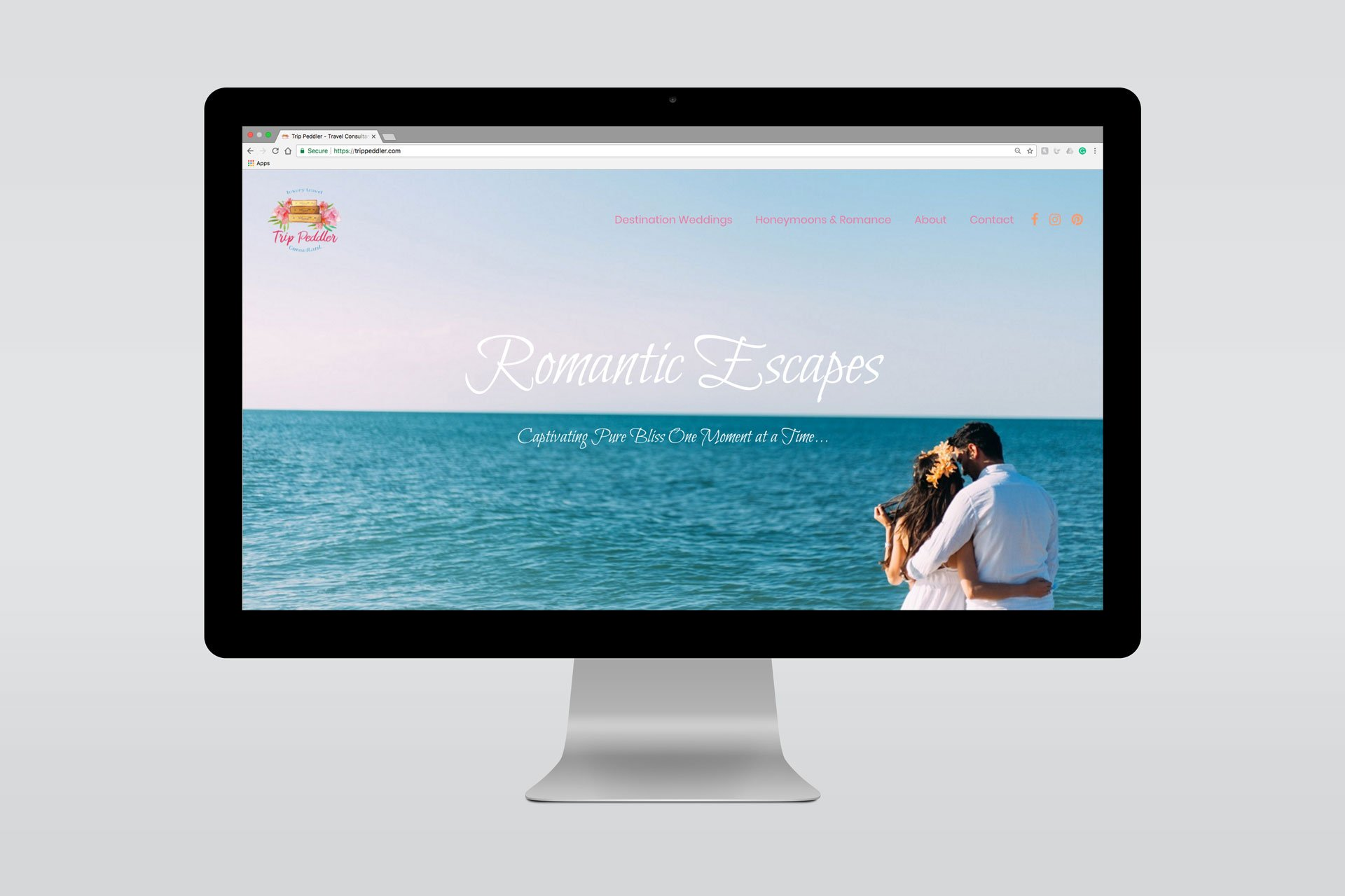 Website Design Displayed on iMac