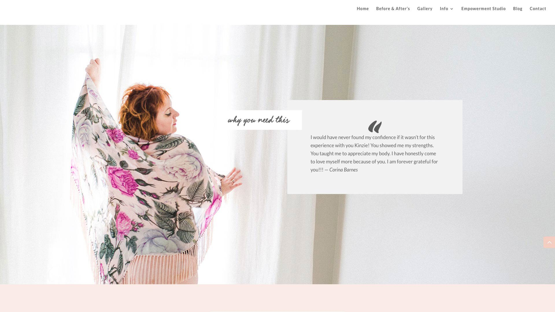 Screen Shot of Website Design by The Helpful Marketer