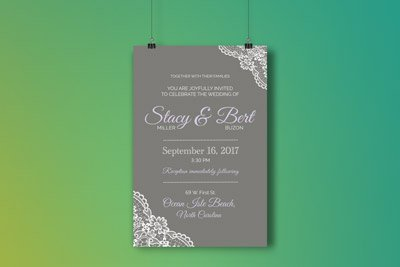 Graphic Design for Wedding Invitation