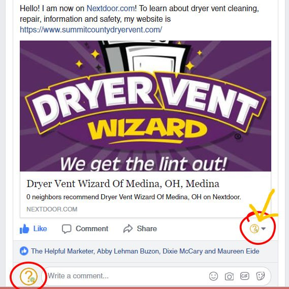 screen shot of how to like and comment as your facebook page