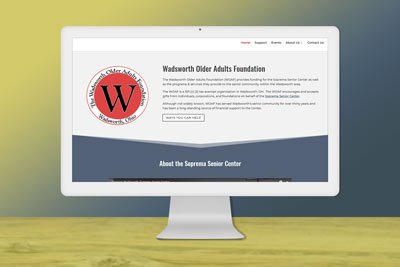 Web Design project for WOAF, non-profit foundation website design