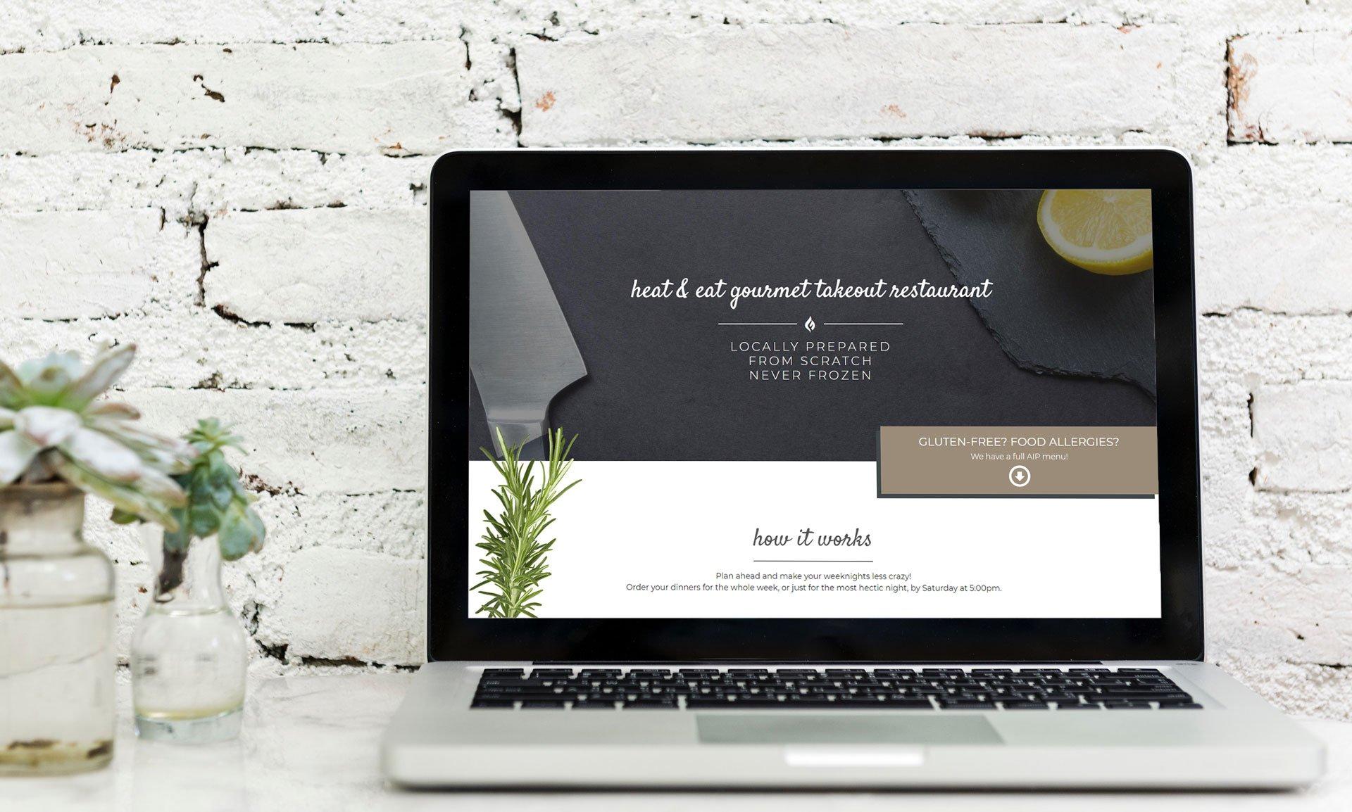 ParTake Kitchen Restaurant Website Design Project