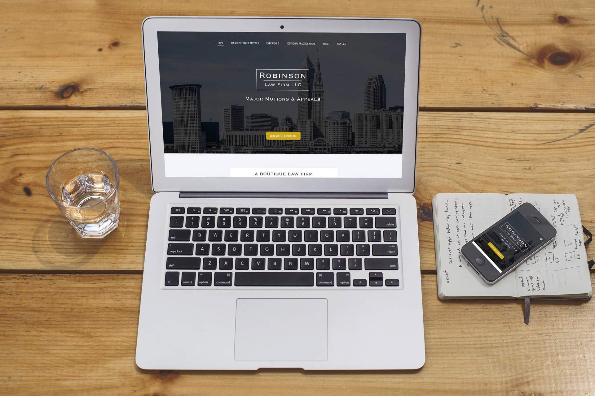 attorney website design mockup