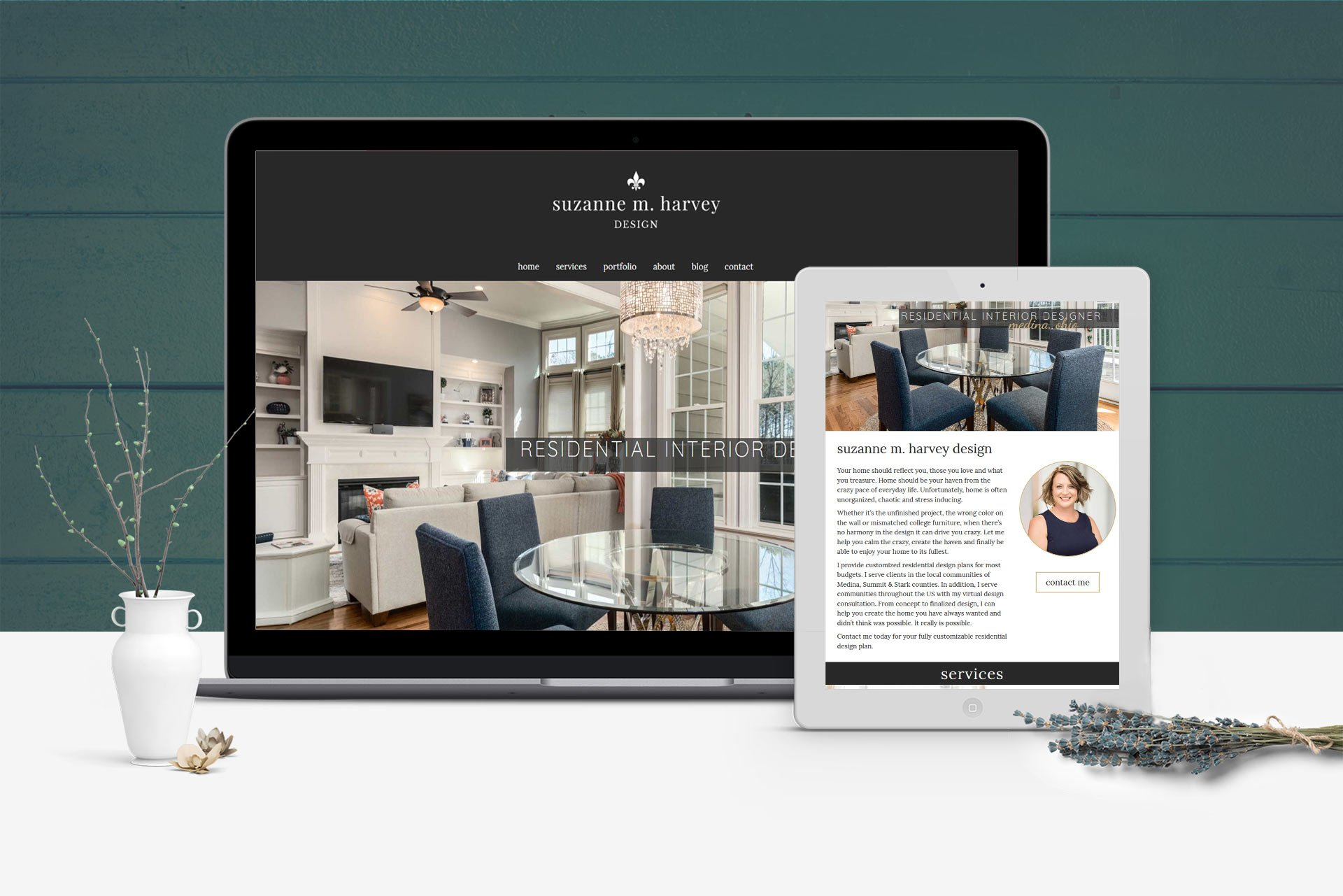 Interior Designer Website Design Project Mockups 1