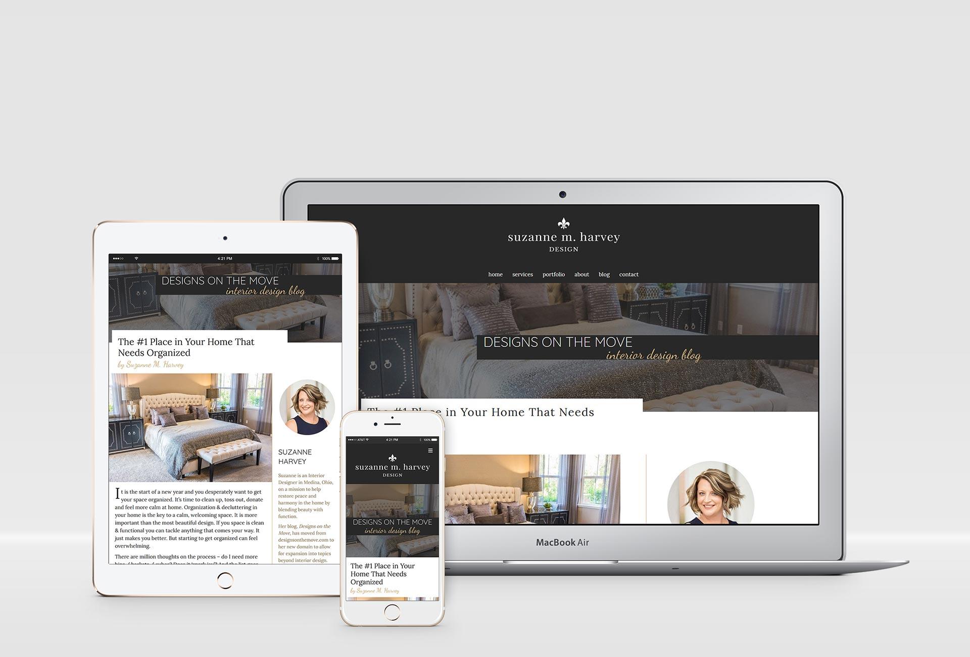 Interior Designer Website Design Project Mockups