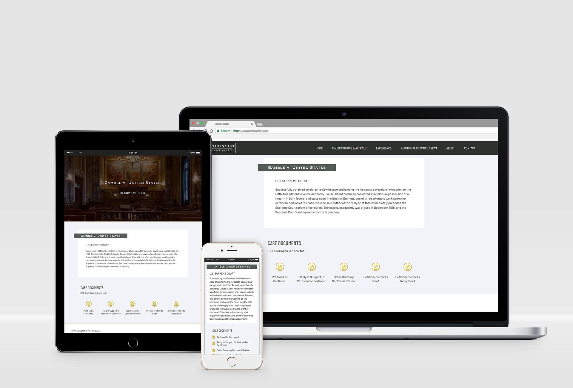 law firm website design mockup 3