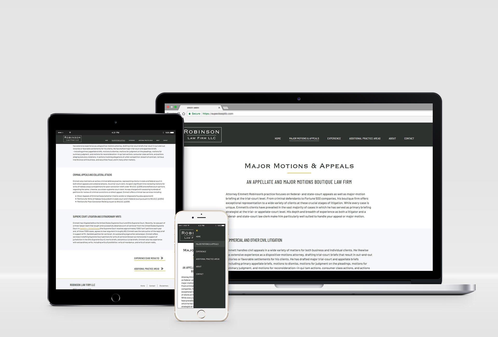 law firm website design mockup