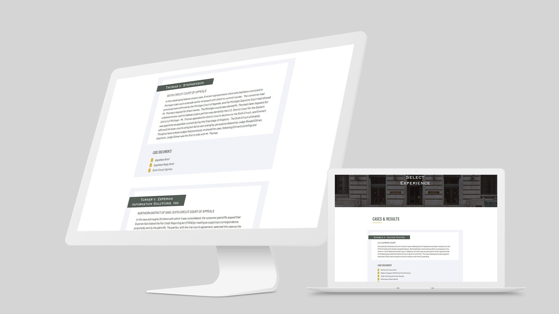 law firm website design mockup 4