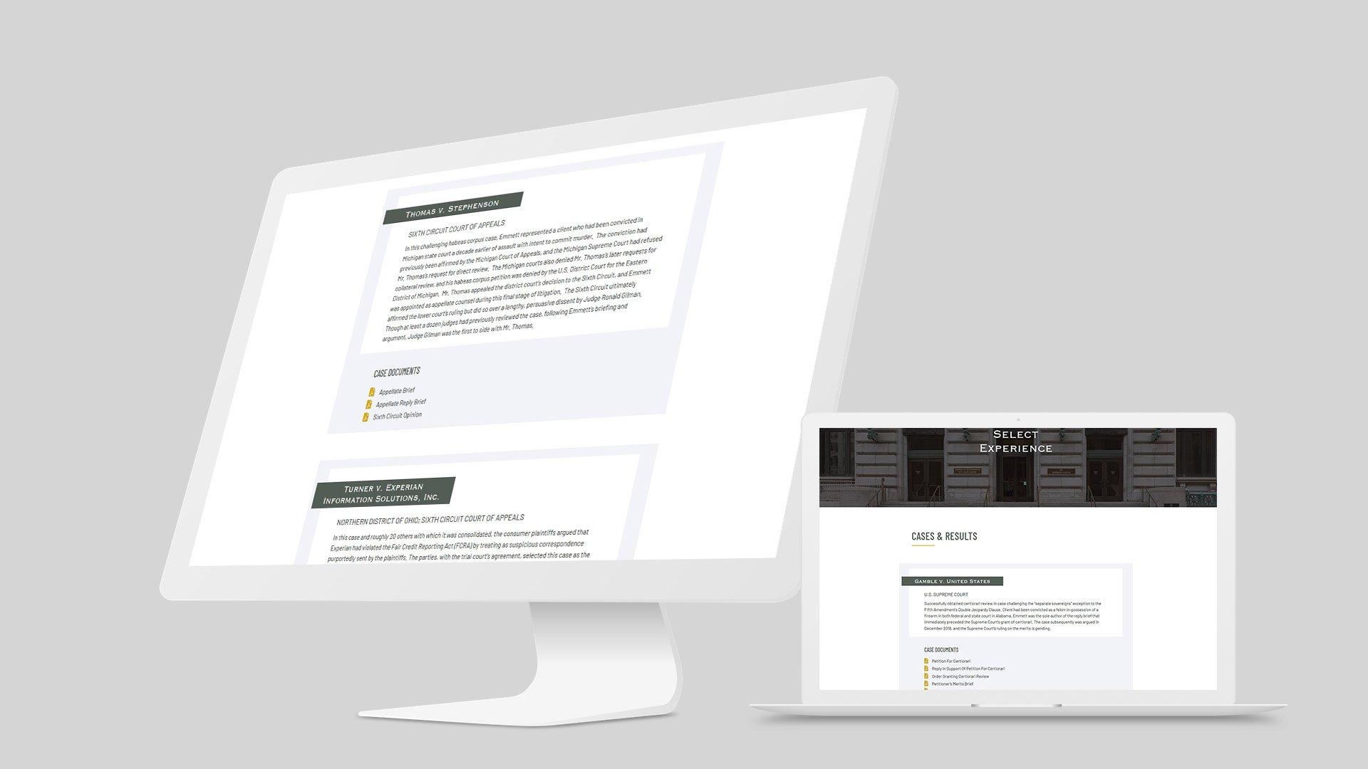 law firm website design mockup 4