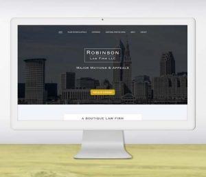 Website design for boutique law firm - portfolio piece