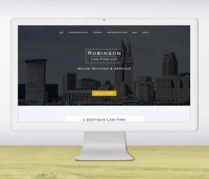 Website design for boutique law firm - portfolio piece