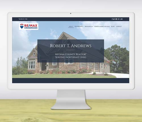 website design portfolio - Real Estate Agent website