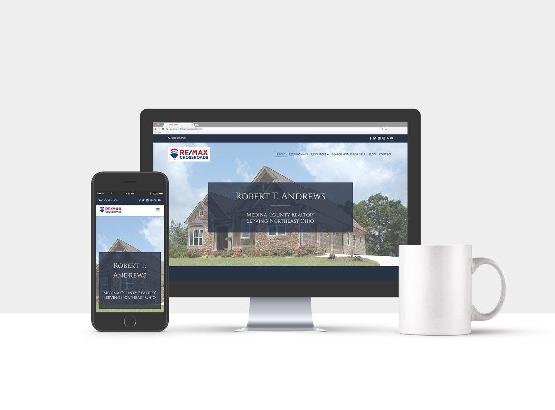 Real Estate Agent website design portfolio