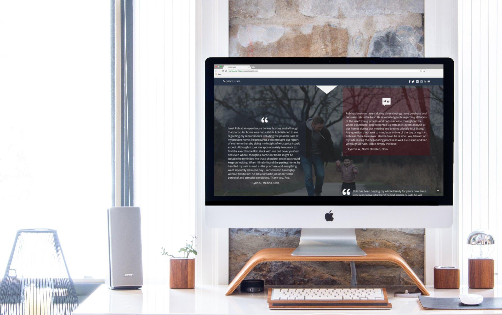 Real Estate Agent Web Design Portfolio Mockup
