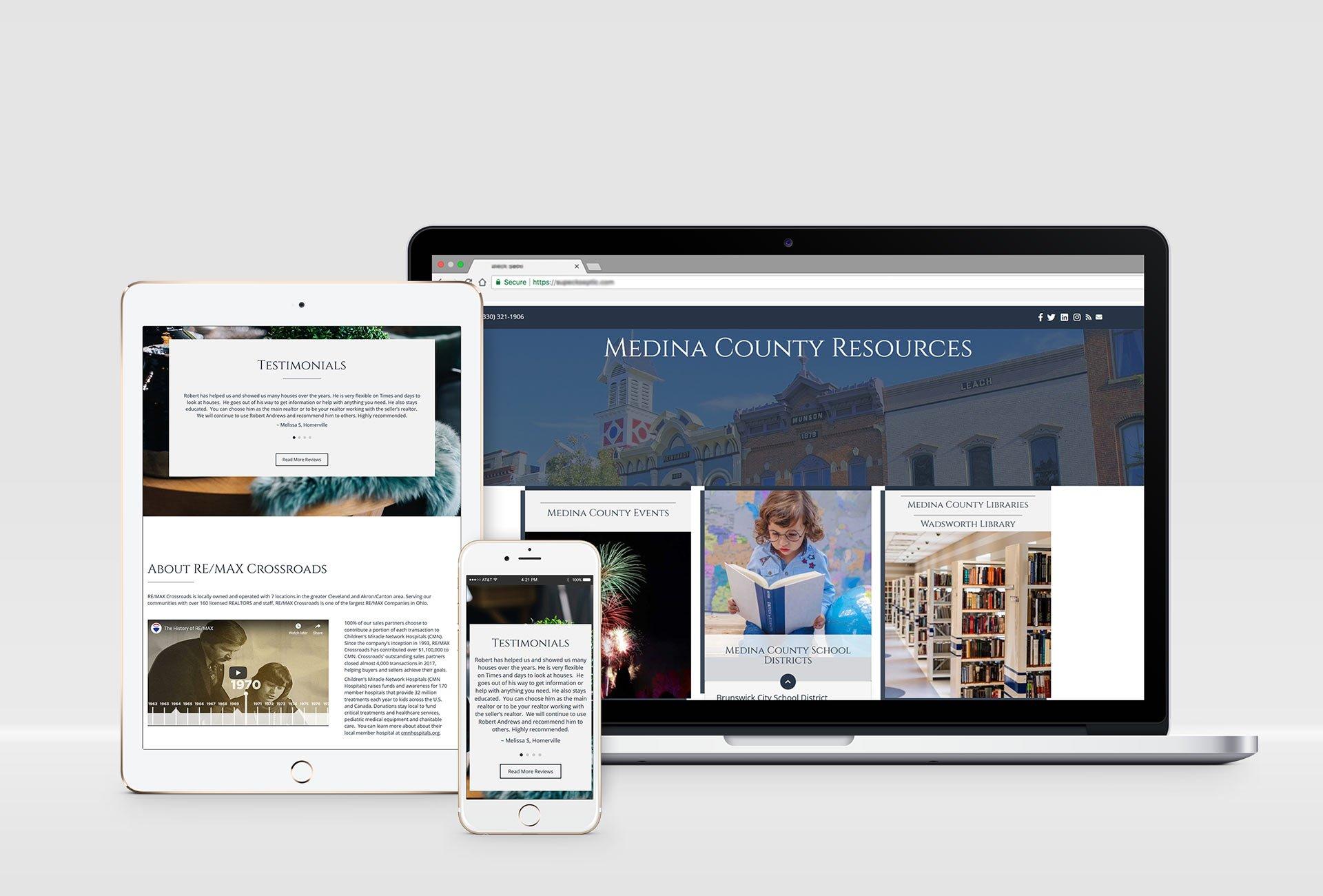 Real Estate Agent website design portfolio responsive design mockups