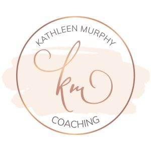Monogrammed Circle Logo Design with watercolor background