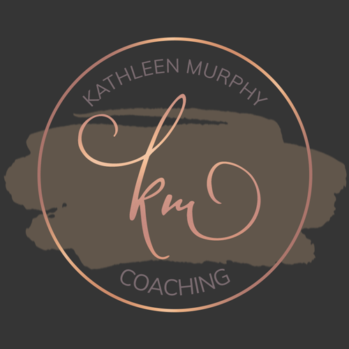 Monogrammed Circle Logo Design with watercolor background on black