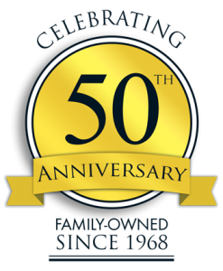 50th Anniversary badge graphic design