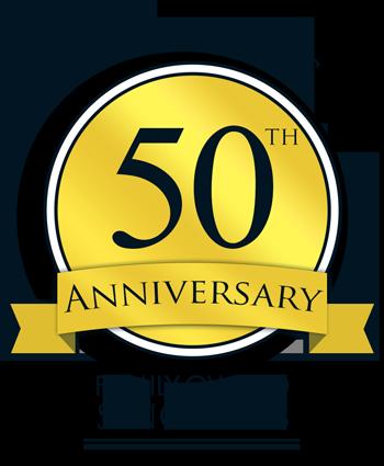 50th Anniversary badge graphic design