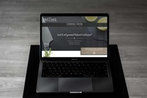 Website Design Portfolio -Coming Soon page for takeout restaurant