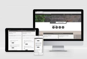 E-commerce Website Design for meal prep restaurant