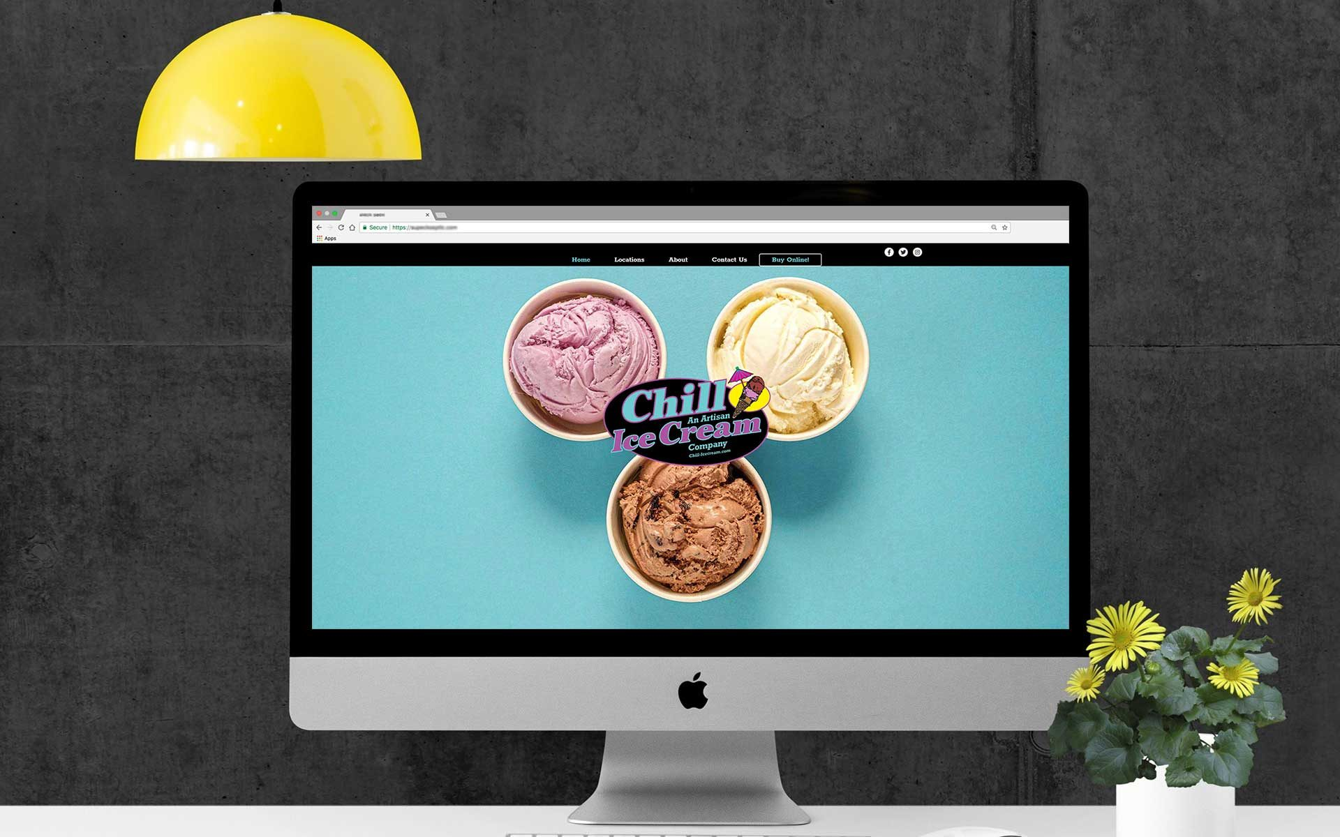 chill-icecream.com website redesign