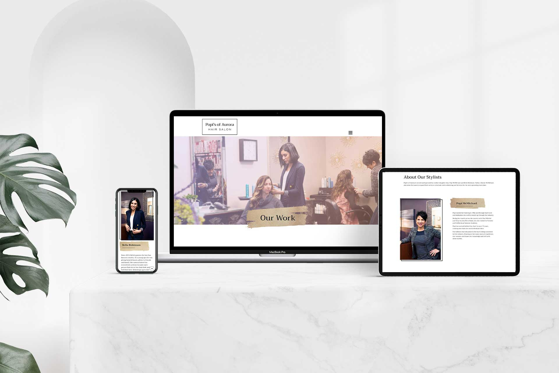 Popi's of Aurora Hair Salon Website Redesign