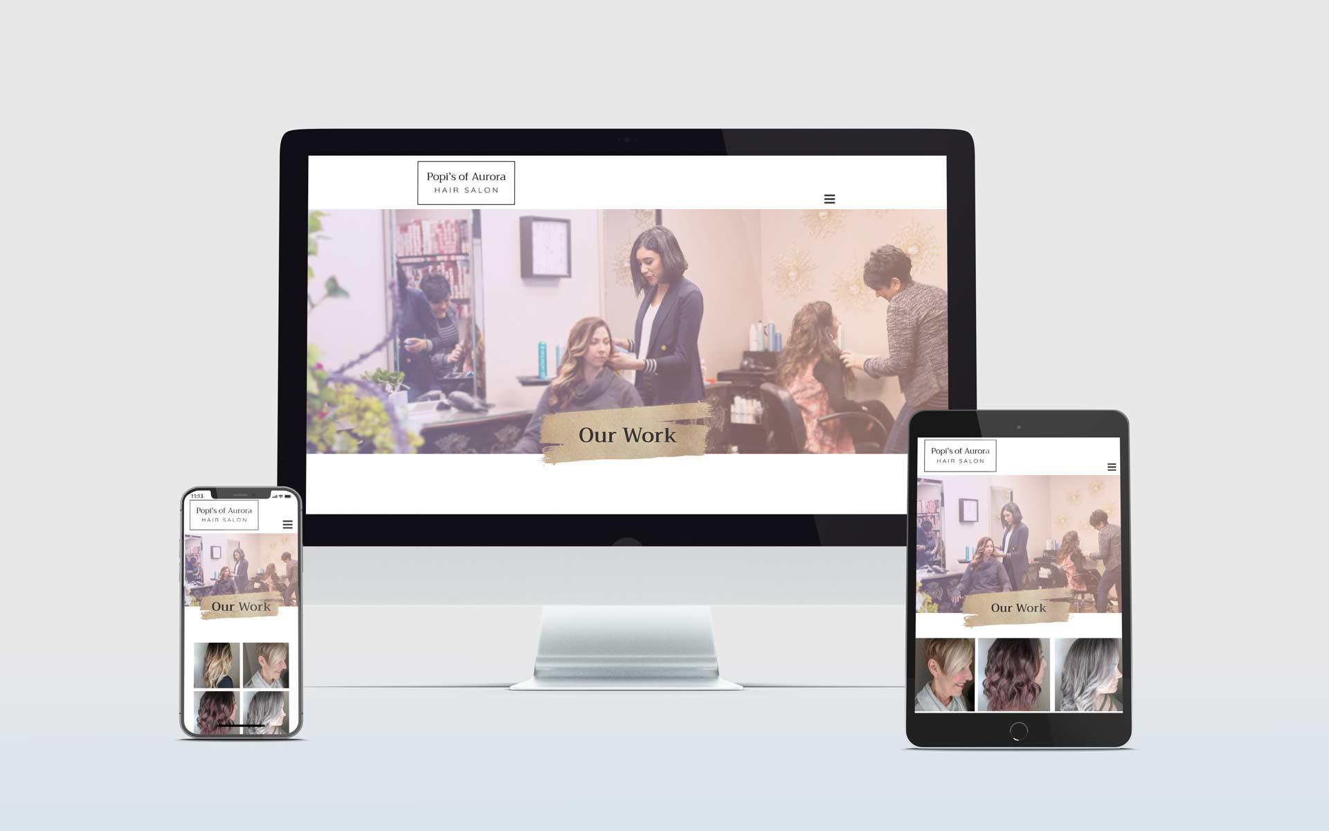 Popi's of Aurora Hair Salon Website Redesign