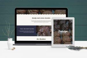 Indulge Chocolates Website Design